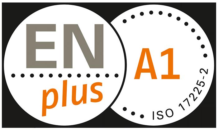La certificazione EN PLUS A1 garantisce controlli di MASSIMA QUALITA' sulla produzione, sull'origine, sull'imballo e sulle caratteristiche tecniche del pellet.